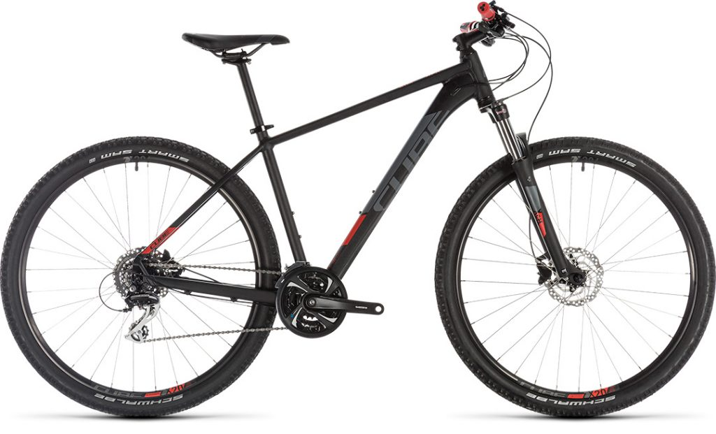 CUBE Aim Race Black/Red 2019 21″ 29er